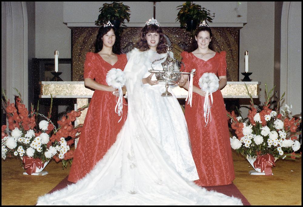 1984 Festival Queen - Catherine Cordeniz Souza   Sidemaids - Lisa Yee & Tricia Boyle
