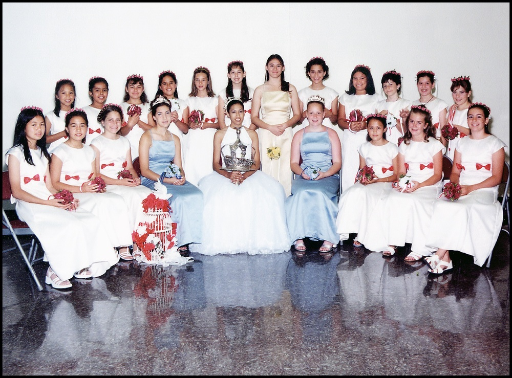 2001 Festival Queen -Rebecca Salazar   Sidemaids - Stephanie Randazzo & Jillian Loyd
