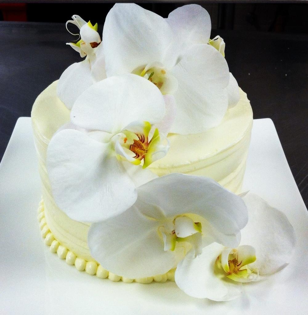 Cascading Flower Anniversary Cake