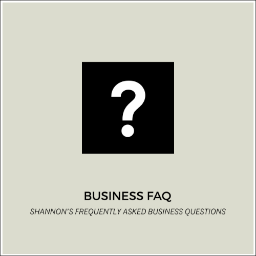 READ OUR BUSINESS FAQ