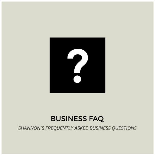 READ OUR BUSINESS FAQ