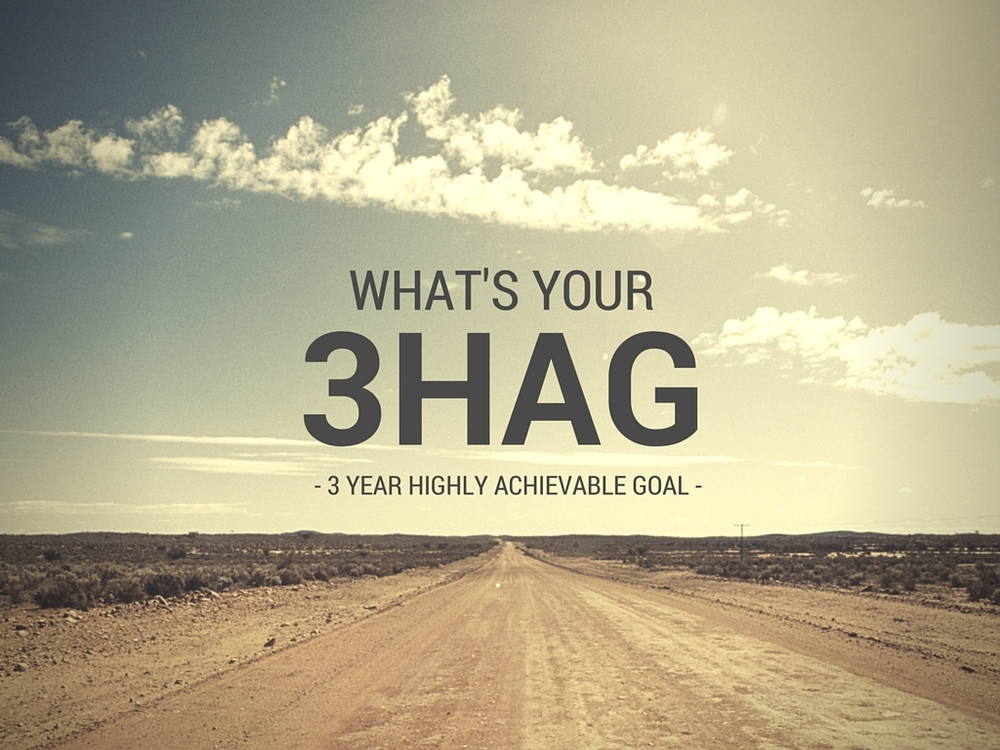 3HAG: 3 Year Highly Achievable Goal – What is yours? 6 Steps to find yours