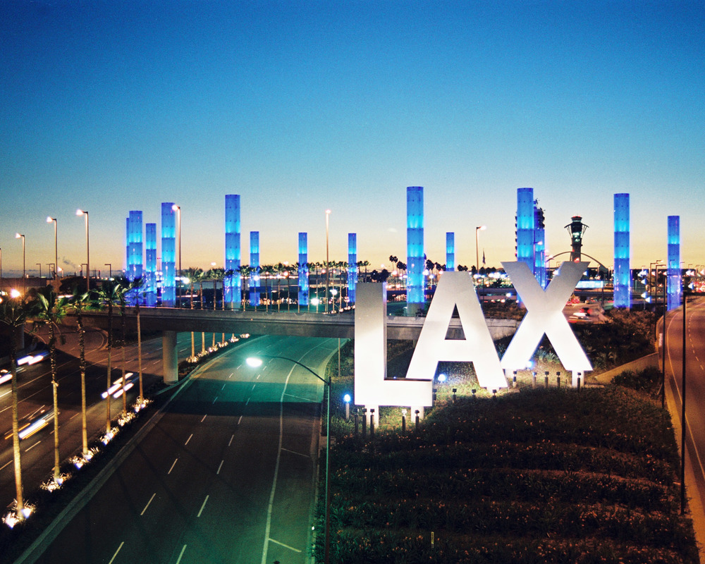 Light Pylons at LAX  Light Pylons at LAX