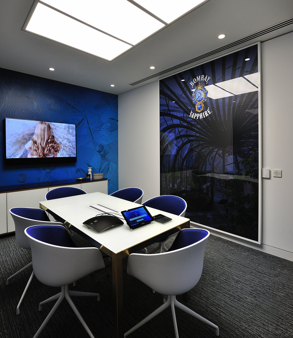 Bombay Sapphire Meeting Room.
