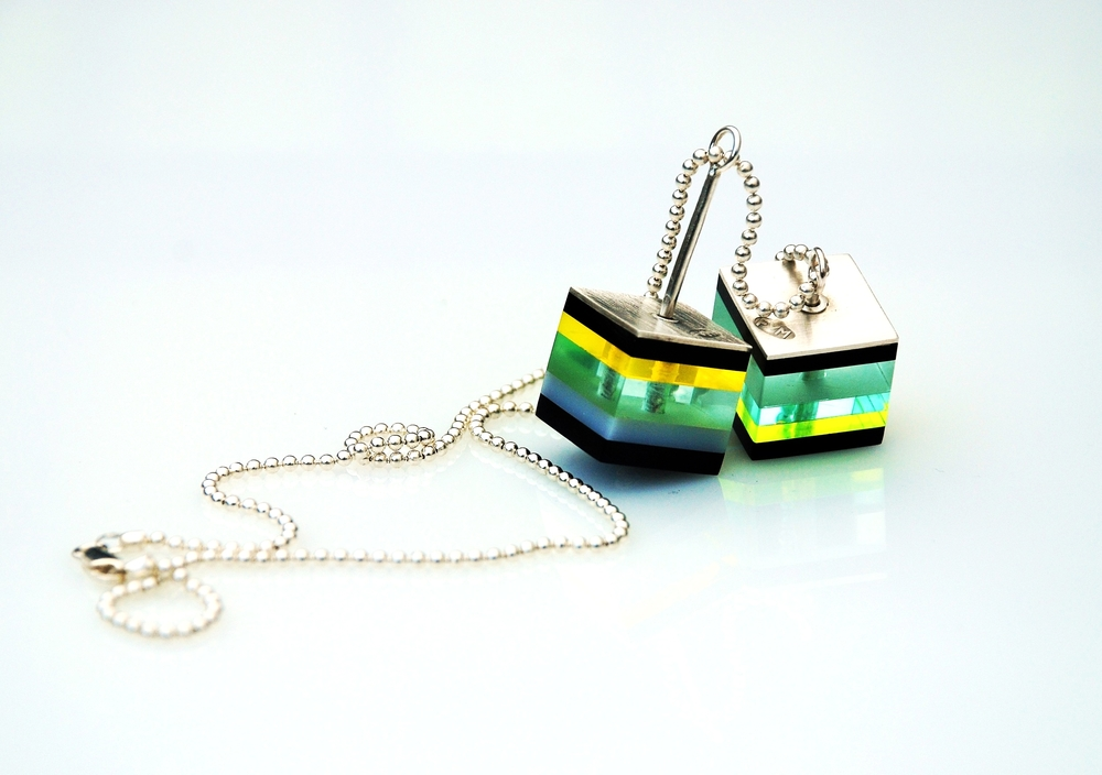 Silver and Plexiglas neckpiece..JPG