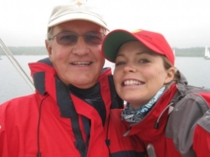 My stepdad and I- it is clear who I got the love of sailing from!
