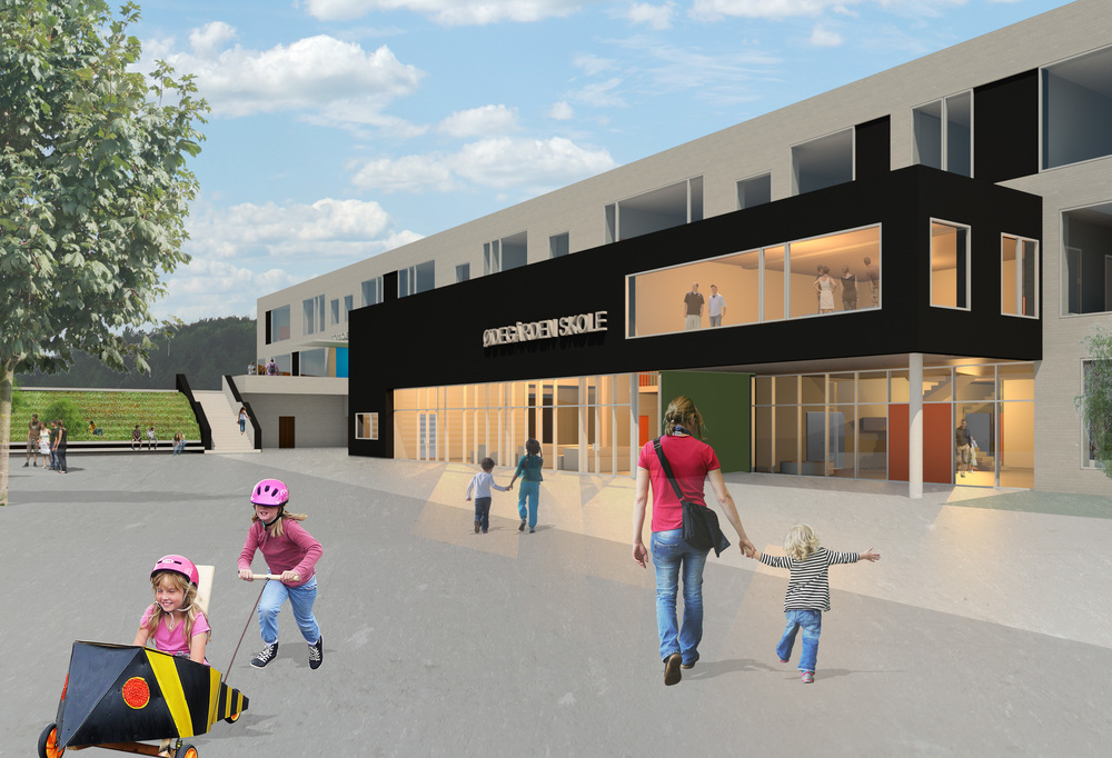 Luhr skole i Stasjonsbyen, Lørenskog