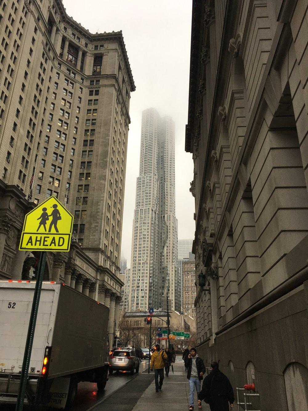 hilsen fra downtown Manhattan