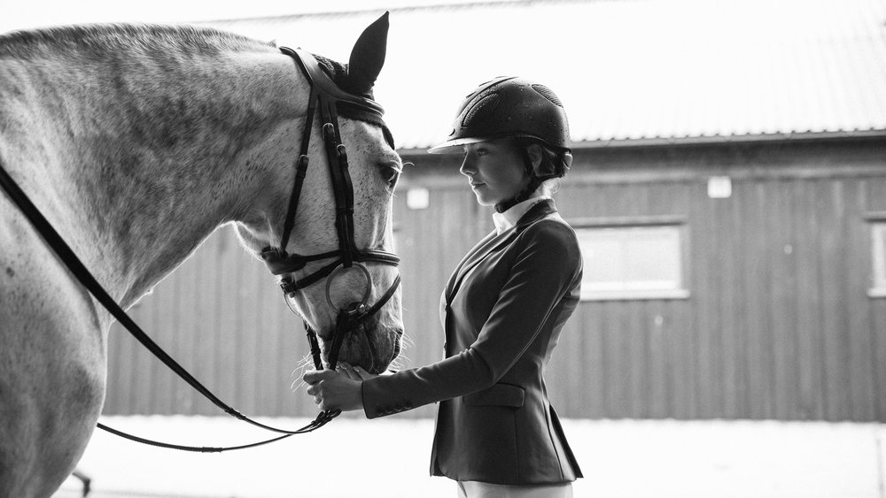 Show jumping athlete Ebba Larsson, from Sweden.