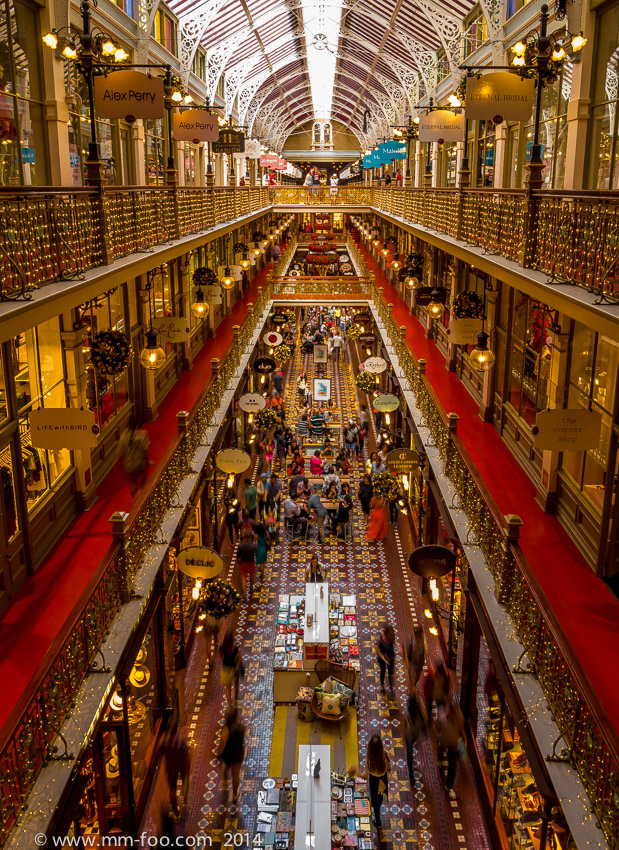 Photo Taken: The Strand Arcade level 3. 1/3 sec, 12mm, f/8.0, ISO100.