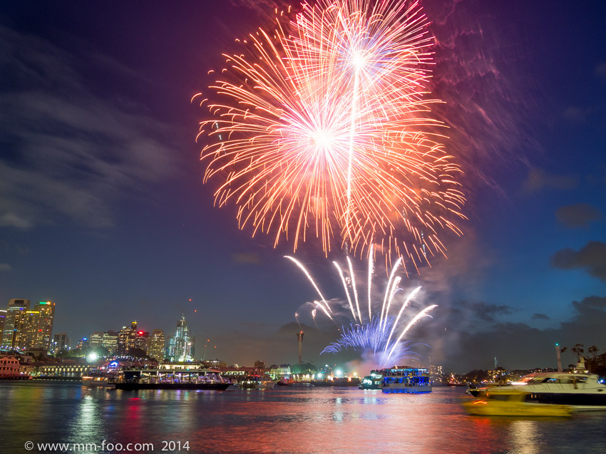 9:00 p.m. fireworks.2.5 sec, 15mm, f/5.6 ISO100.