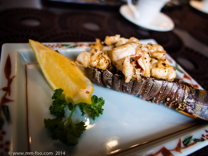 1/60 sec, 12mm, f/2.0, ISO400. Lobster cooked on the Teppanyaki