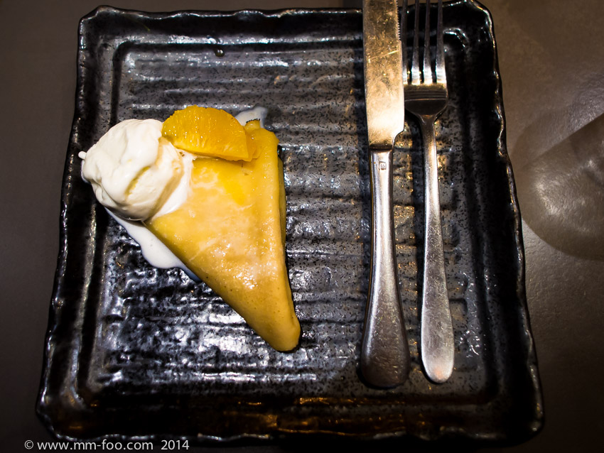 1/25, 12mm, f/2.0, ISO800. Crepe Suzette served with Vanilla Ice Cream