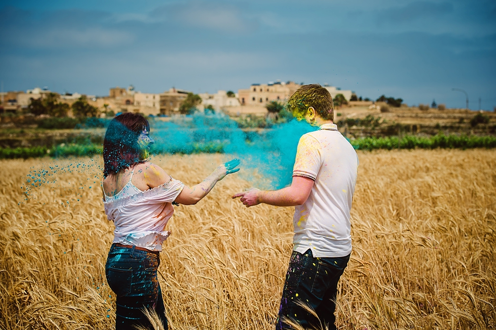 Engagement Session - Gozo - Holi Colours - Shane P. Watts Photography