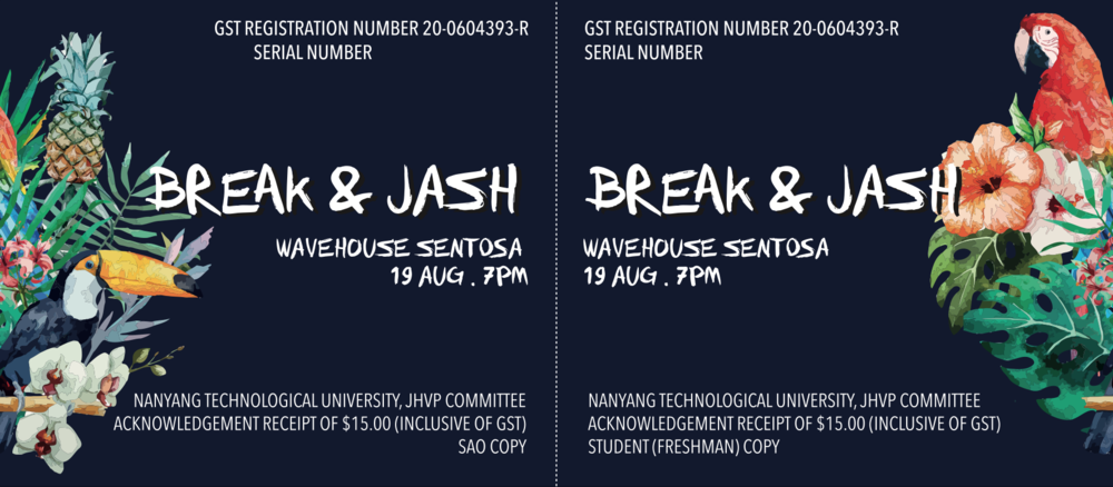 JASH Ticket Design 1 (Freshman Ticket)