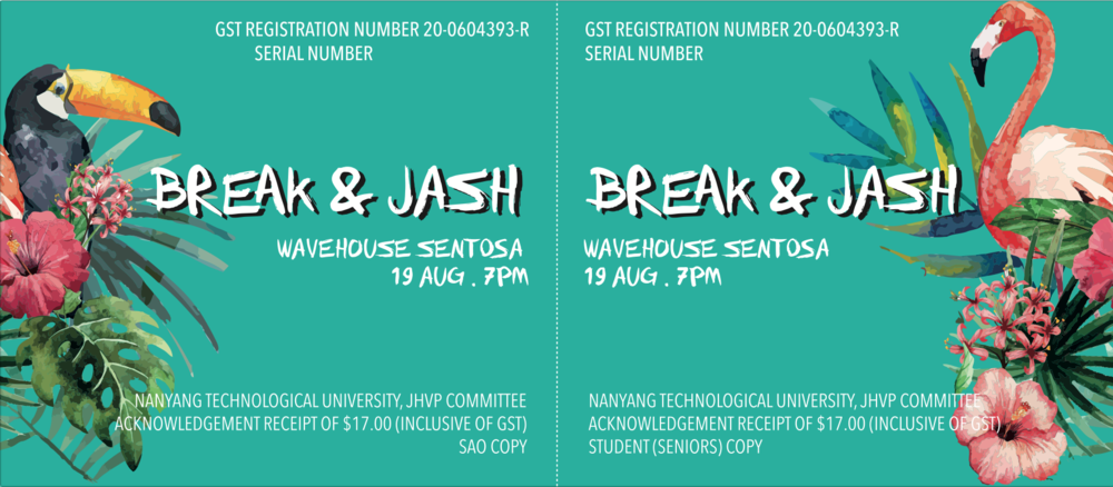 JASH Ticket Design 2 (Seniors Ticket)