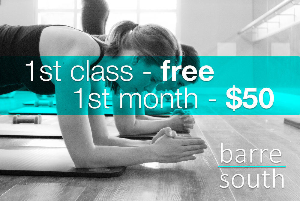 barre class new client special