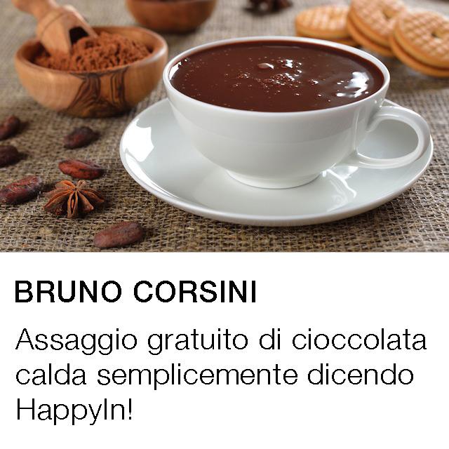 Assaggio gratuito di cioccolata calda semplicemente dicendo HappyIn!