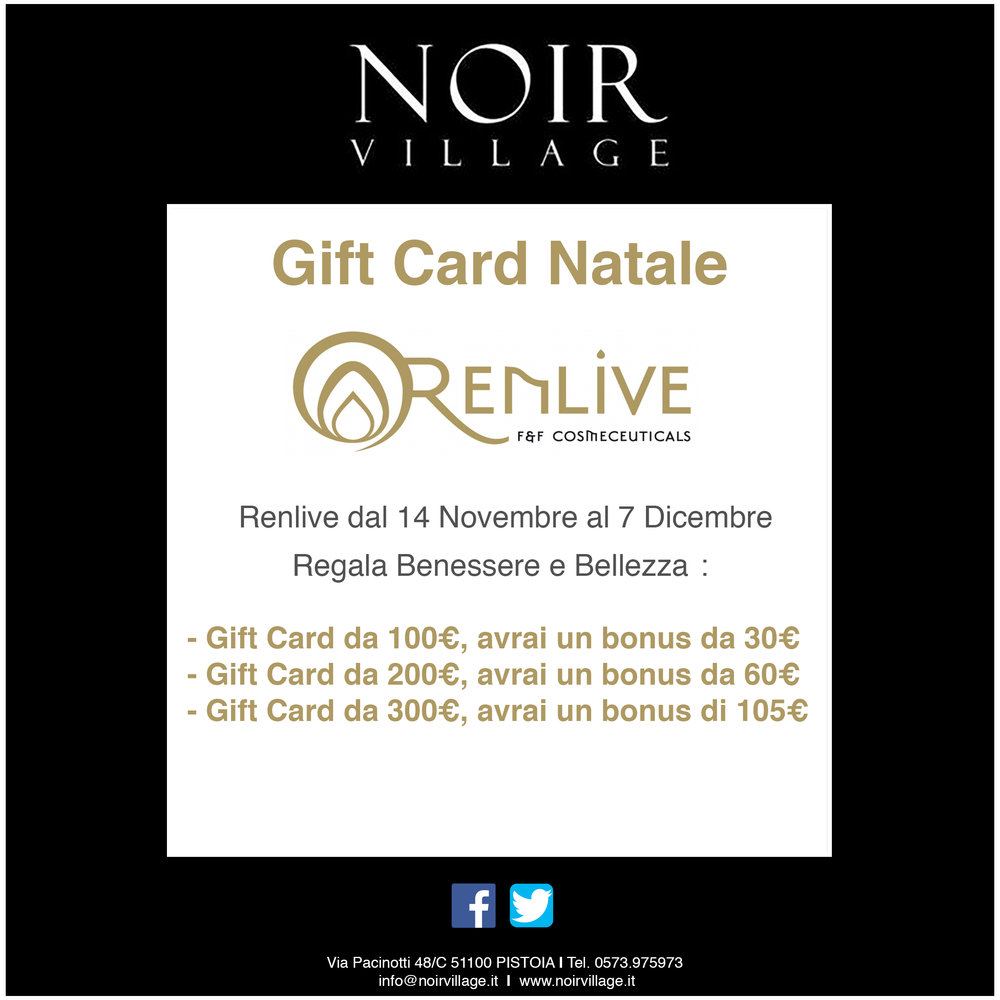 GIFT CARD NATALE RENLIVE