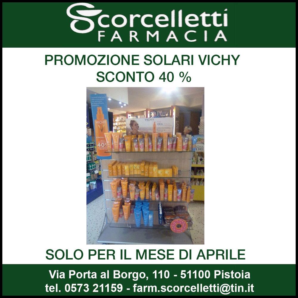 VICHY promozione solari sconto 40 %