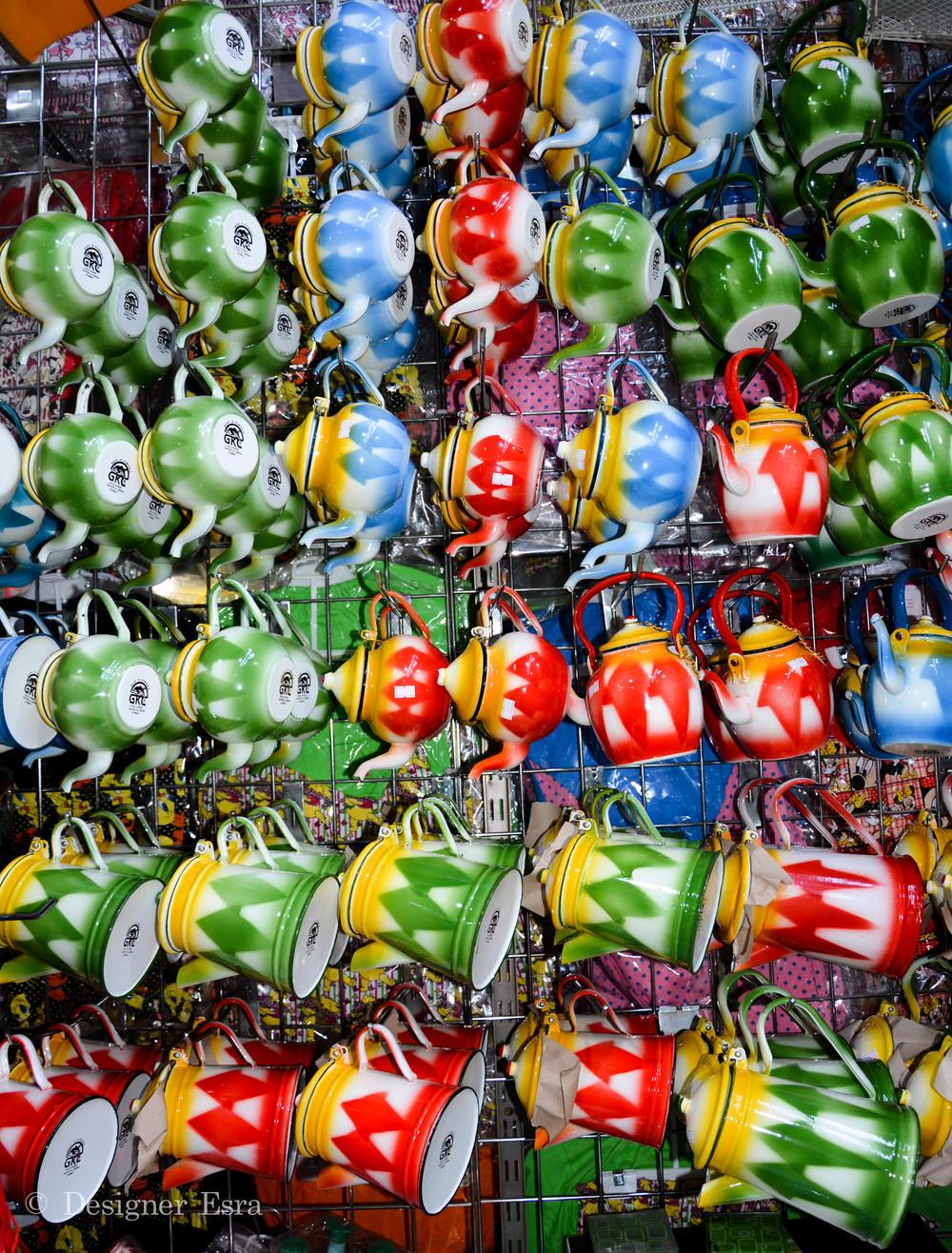 Colorful Tea pots