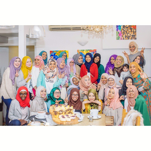 All the beautiful ladies from the event *MashAllah*  Photo taken by Muna Ally
