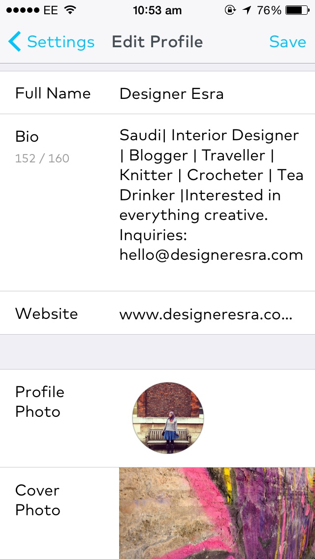 Designer Esra on Storehouse