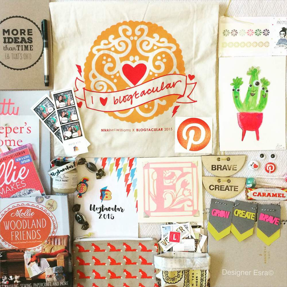 Goodie bag & the things I crafted in the workshops