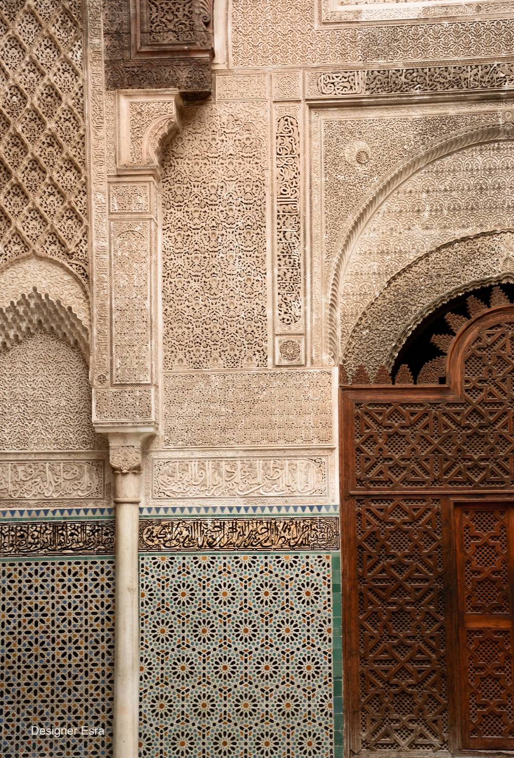 Al-Attarine Madrasa in Fes, Morocco