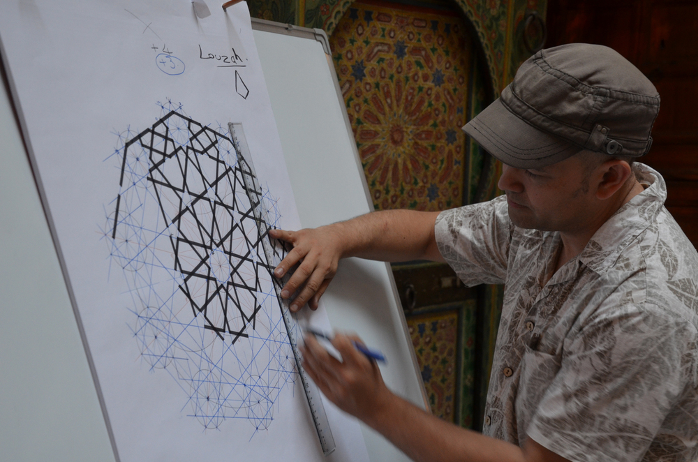 Richard teaching us one of the geometric patterns  Photo Taken by  the Art of Islamic Pattern