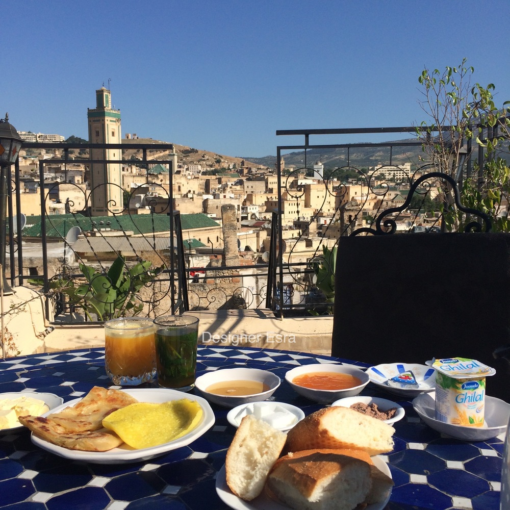 Moroccan Breakfast on the Terrace