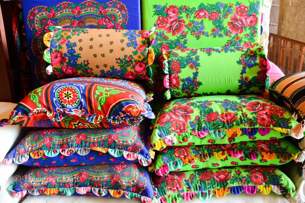 Handmade Bright Cushion in Qatar