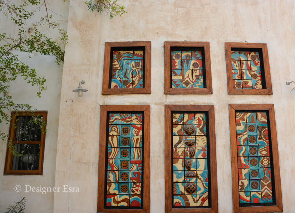 coloured decorative panels