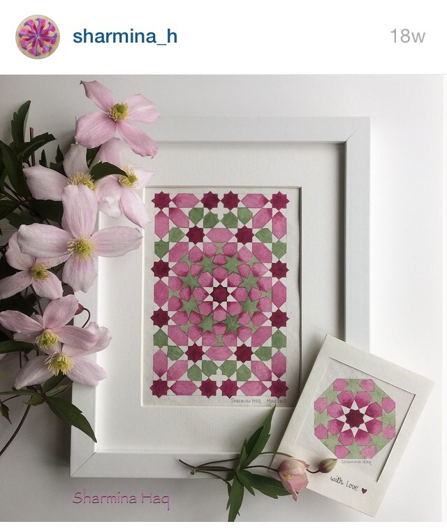 Pink Islamic Geometric Patter