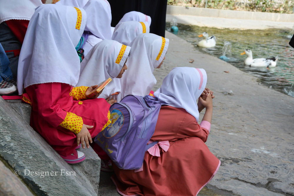 Little Iranian Hijabi school girls in Kashan