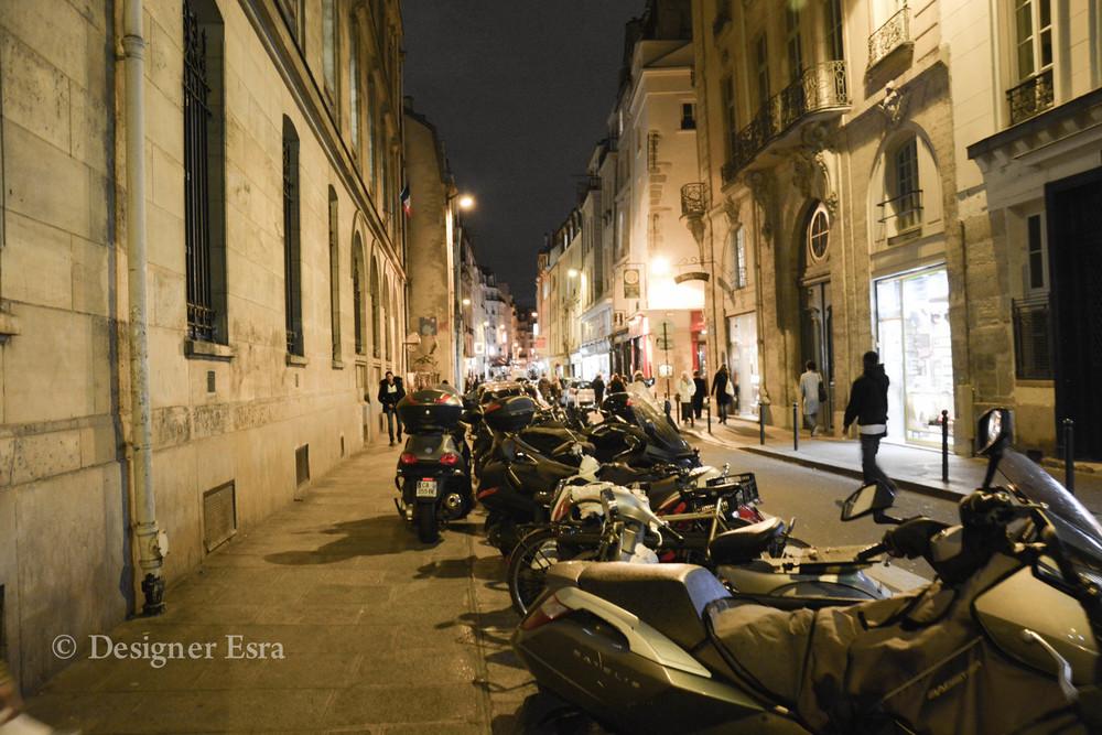 motorcycles in Paris