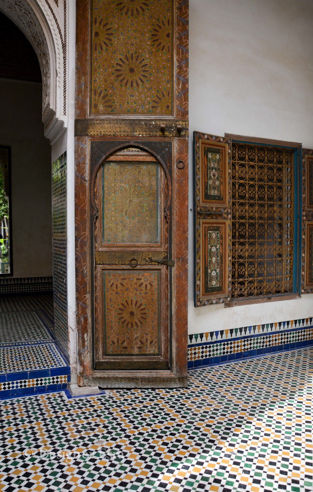 Islamic Pattern on wood in Bahia Palace