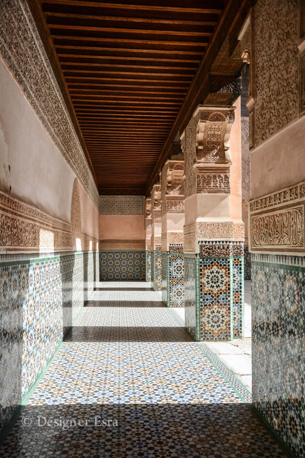 Islamic Patterns in Ben Youssef Madrasa