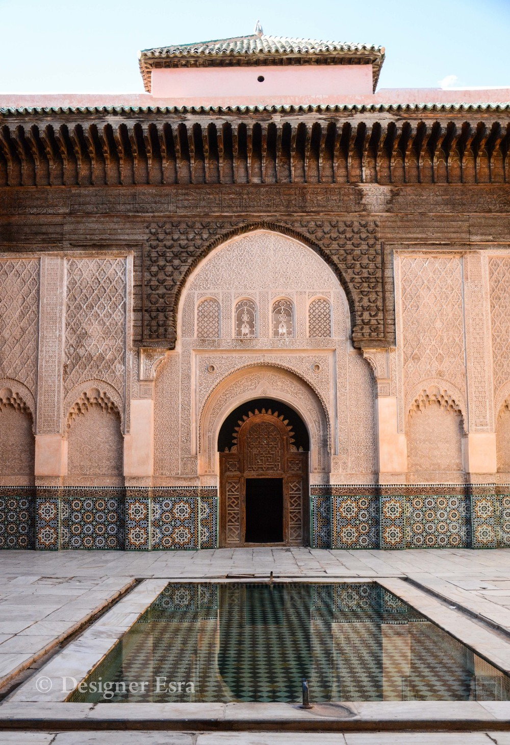 Beautiful Courtyard in Ben Youssef Madrasa