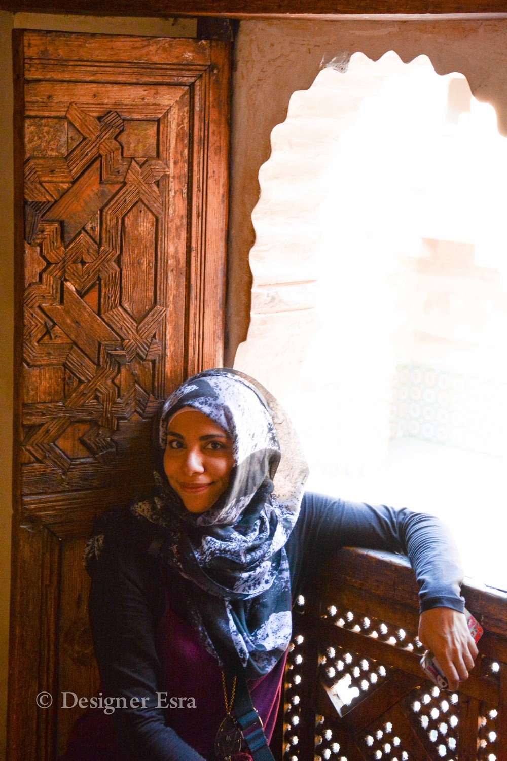 on the second floor of Ben Youssef Madrasa