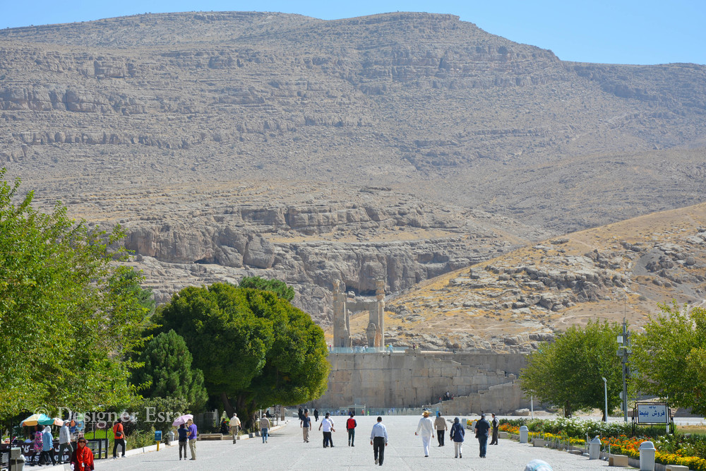 At the entrance of Persepolis تخت جمشيد