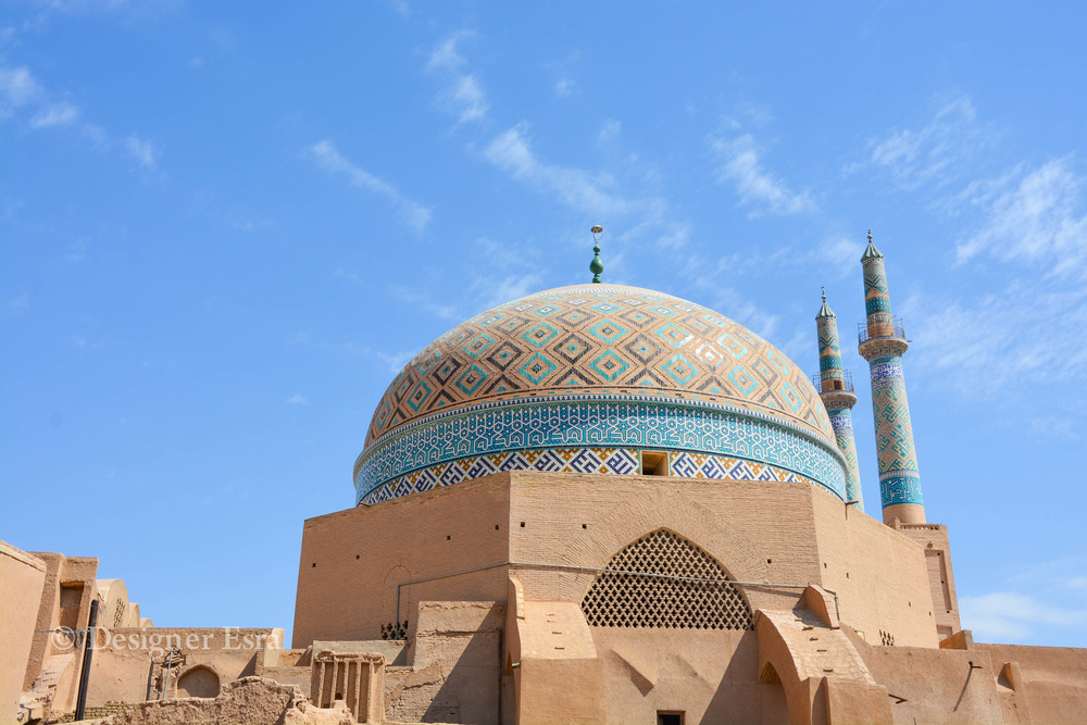 The dome of Jame'a / Friday Mosque in Yazd, Iran