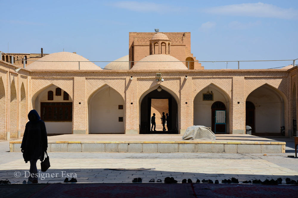 the courtyard of the Jame'a / Friday Mosque in Yazd, Iran