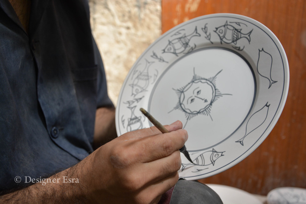 Drawing on Bisque in Iran