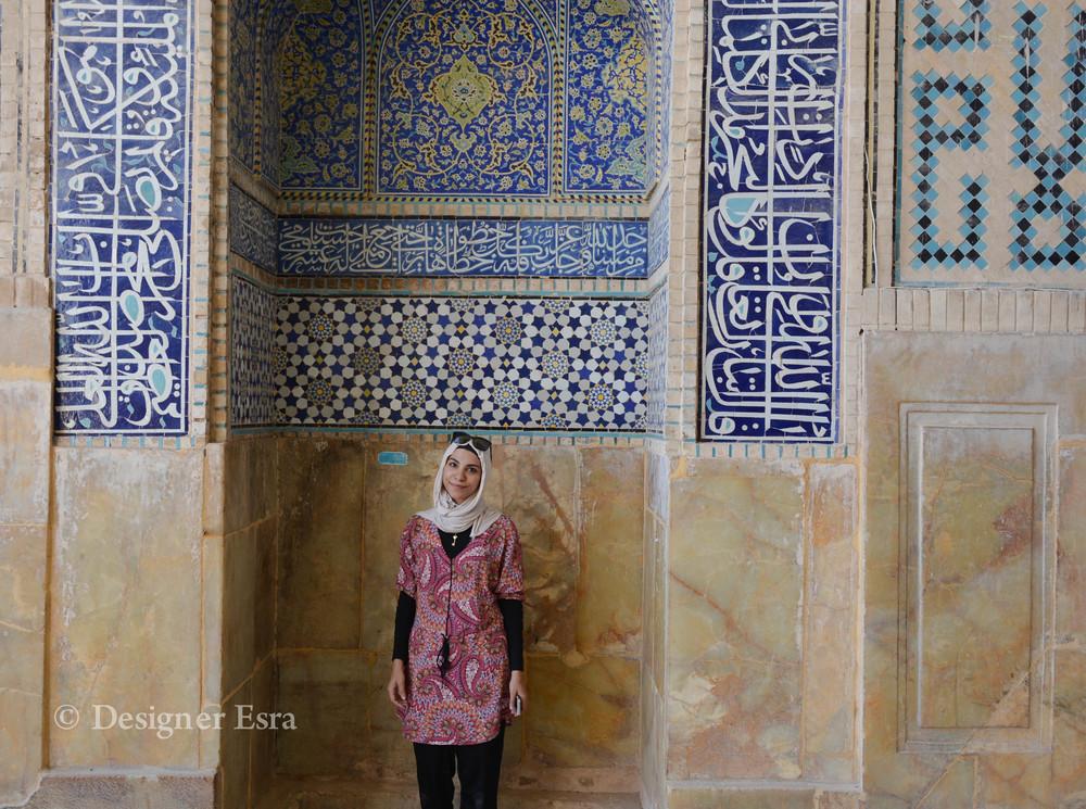 Coloured long loose top in my Iran trip
