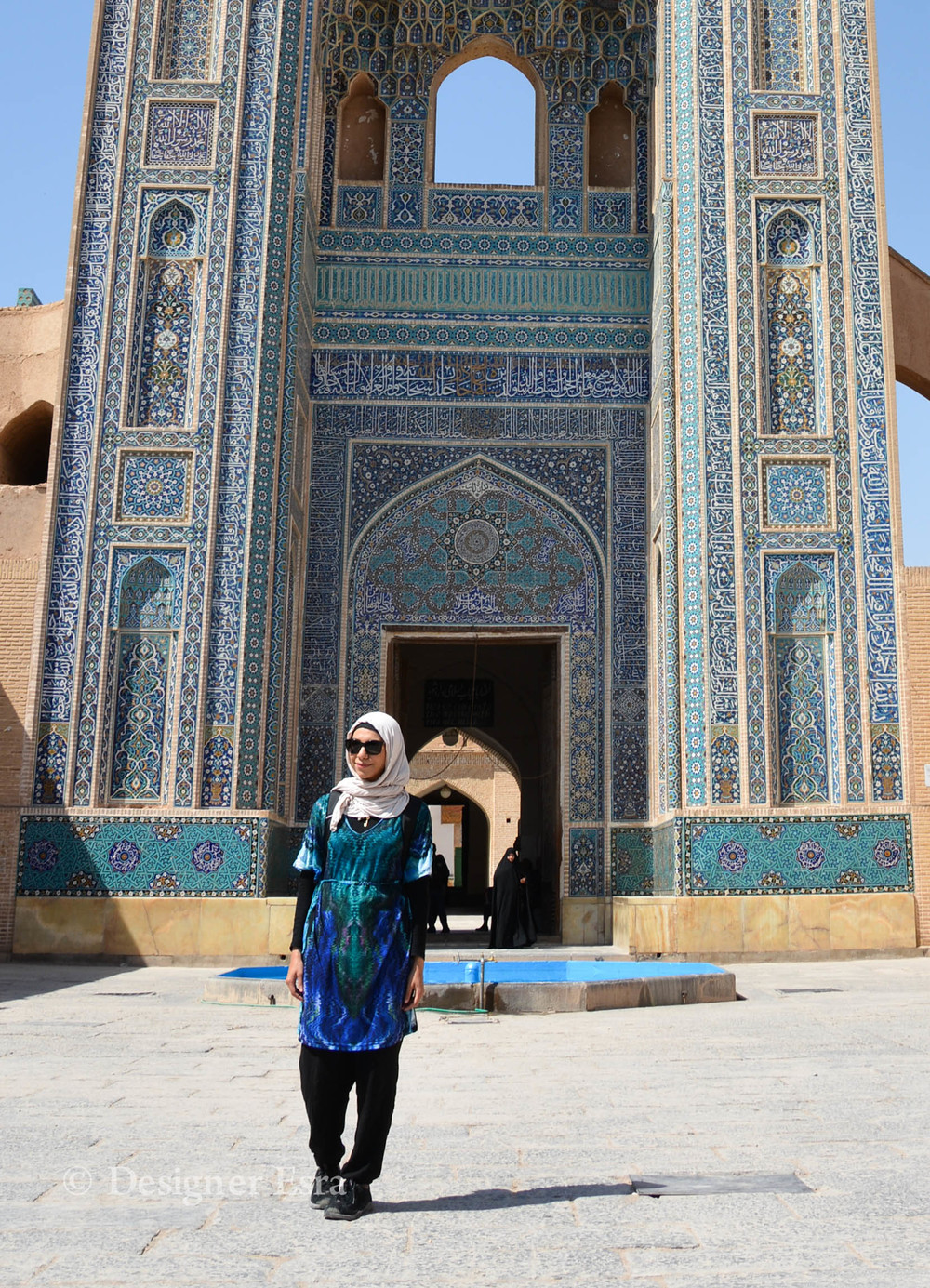 Just slightly long top for a mosque visit in Iran