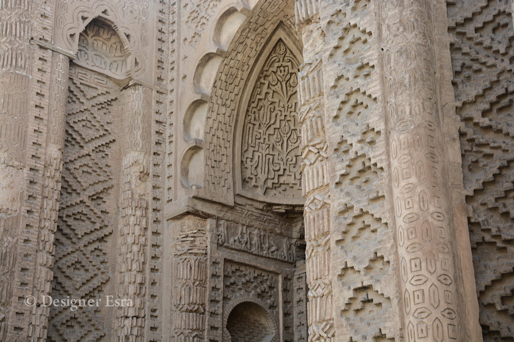 Historic carved Islamic patterns in Hakim Mosque مسجد الحكيم