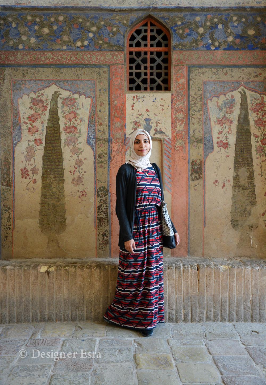 Wearing a maxi dress in Iran