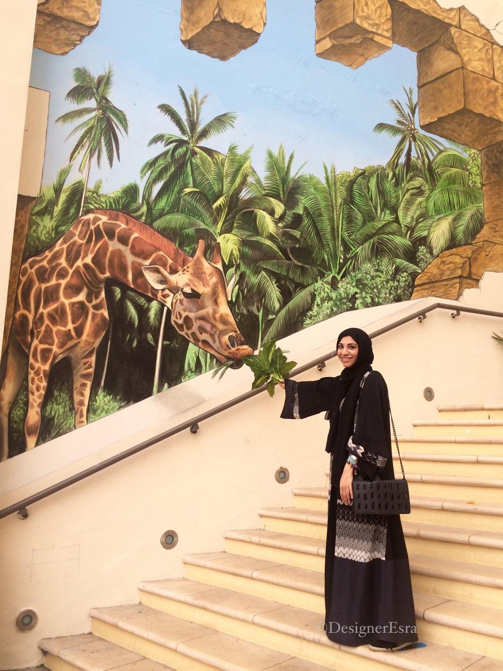 3D Giraffe Street Painting in Dubai