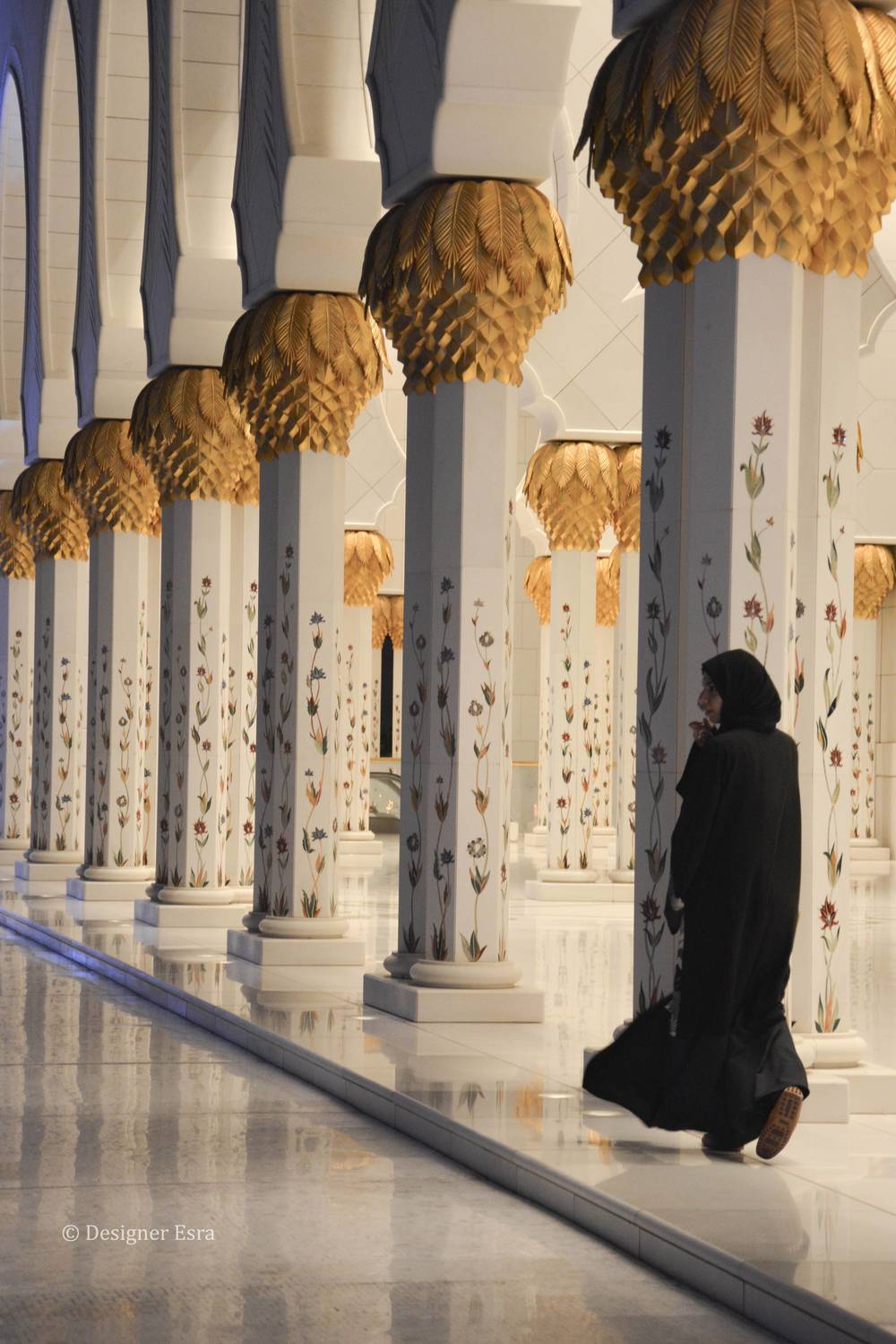 Floral Columns in Sheikh Zayed Grand Mosque